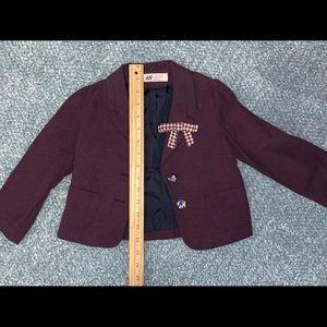 Girls purple blazer from H&M
